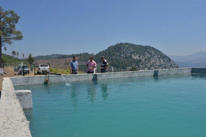 Mersin'de orman yangınlarıyla mücadeleye 3 betonarme havuz daha eklendi