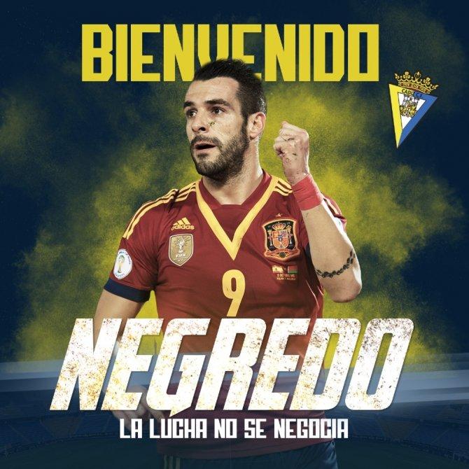 Alvaro Negredo resmen Cadiz'de