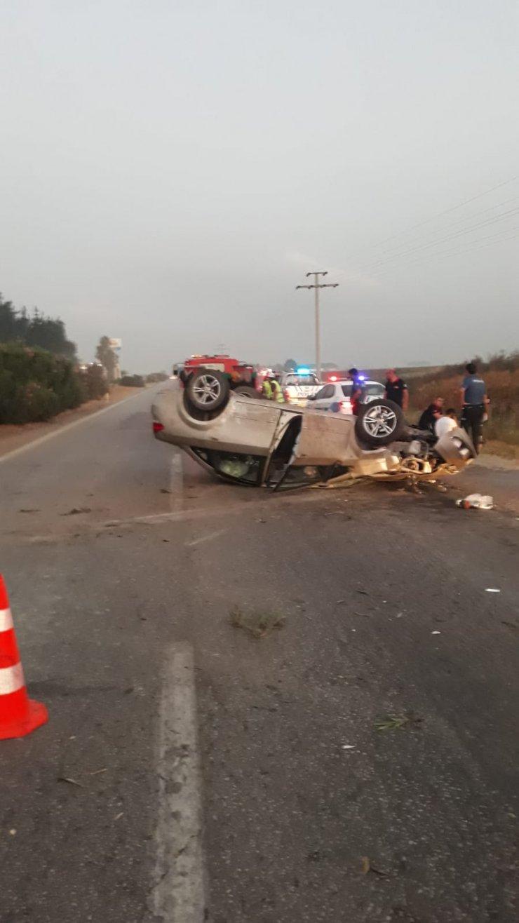 Takla atan otomobildeki Buğrahan öldü, Uzman Çavuş babası yaralandı