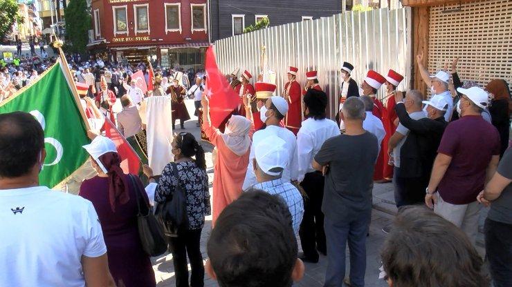 Ayasofya Camii açılışına kurbanlık koçla geldi