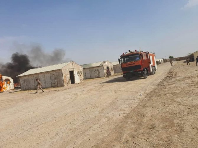 Bağdat'ta uluslararası koalisyon güçlerinin olduğu askeri üsse roketli saldırı