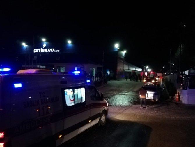 Bolu'da, Organize Sanayi Bölgesi'nde fabrikanın buhar kazanı patladı