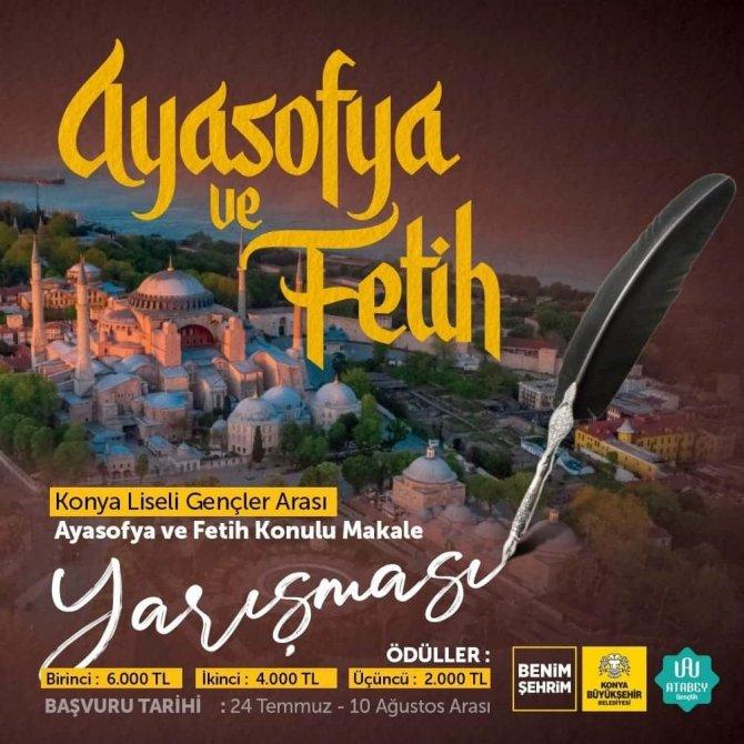 """Konya Büyükşehir'den """"Ayasofya ve Fetih"""" konulu makale yarışması"""
