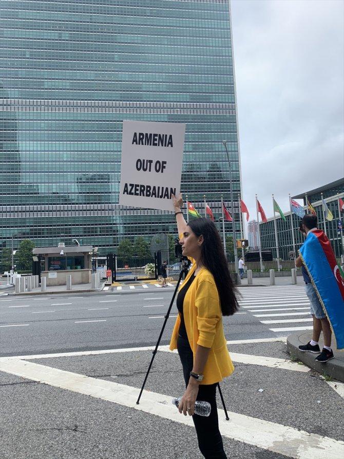 ABD'deki Azeri ve Türk vatandaşlar, New York'ta Ermenistan'ı protesto etti