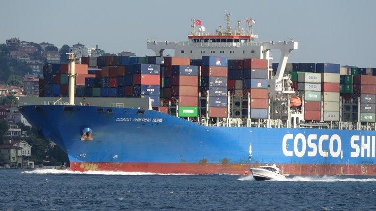 Dev gemi İstanbul Boğazı'ndan geçti