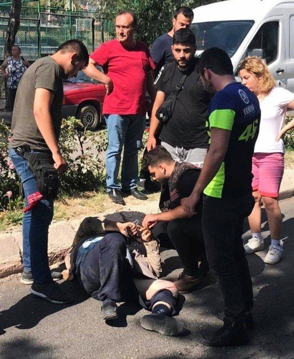 Edirne'de korku dolu anlar! Sürüklenerek kurtarıldı