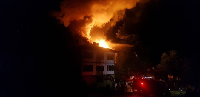 Safranbolu'da tarihi konakta yangın çıktı