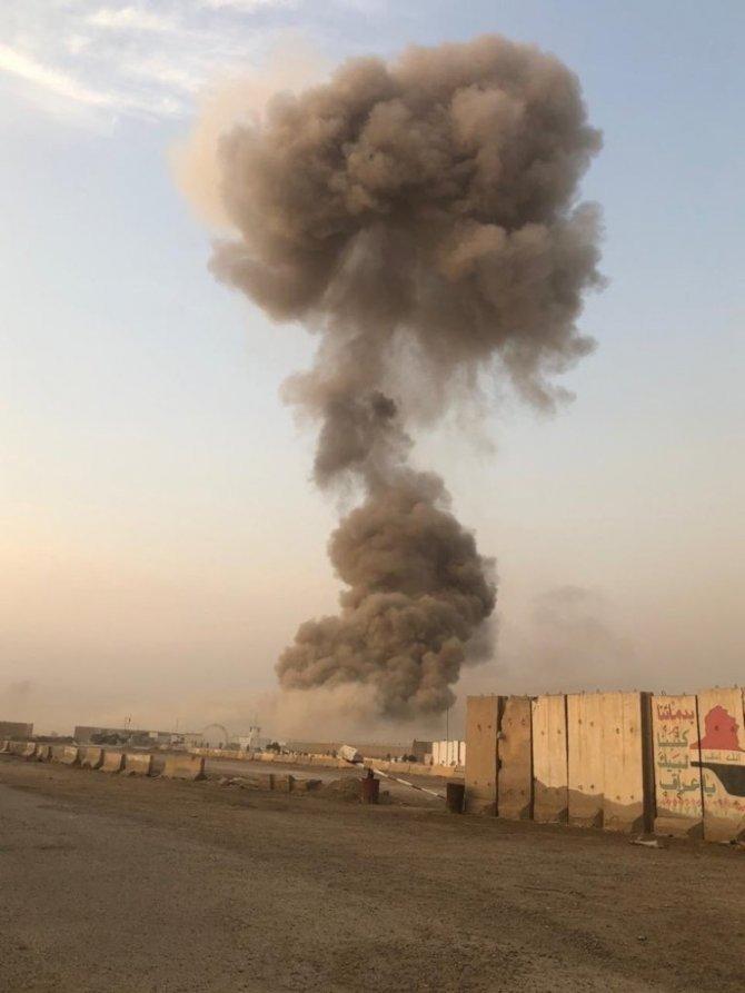 Irak askeri üstte patlama