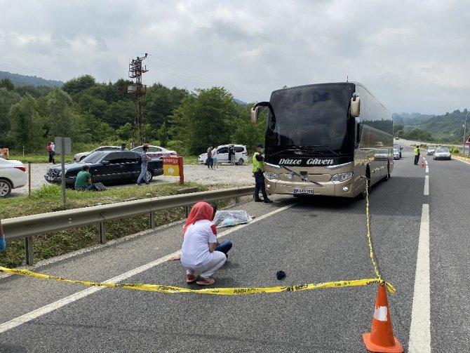 Yolcu otobüsünün çarptığı kadın hayatını kaybetti
