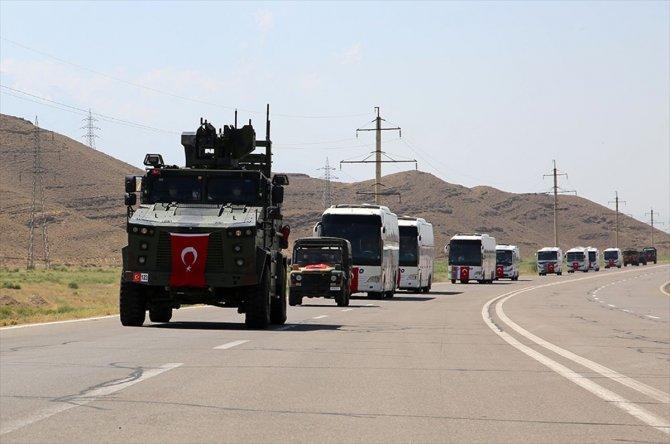 Azerbaycan'la ortak tatbikata katılacak Türk askerleri Nahçıvan'a geldi