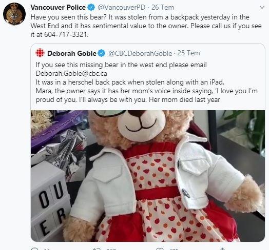 İçinde ölen annesinin ses kaydı olan oyuncak ayısı çalınan kadına Hollywood yıldızlarından destek