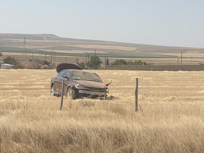 Konya'da yoldan çıkan otomobildeki yabancı uyruklu 2 kişi yaralandı