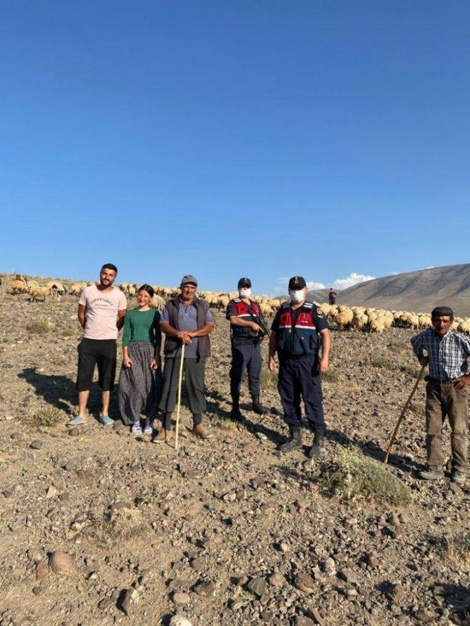 Konya'da kaybolan 300 koyunluk sürüyü jandarma droneyle buldu