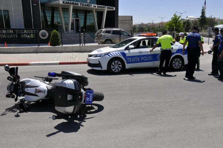 Otomobilin çarptığı motosikletli trafik polisi yaralandı