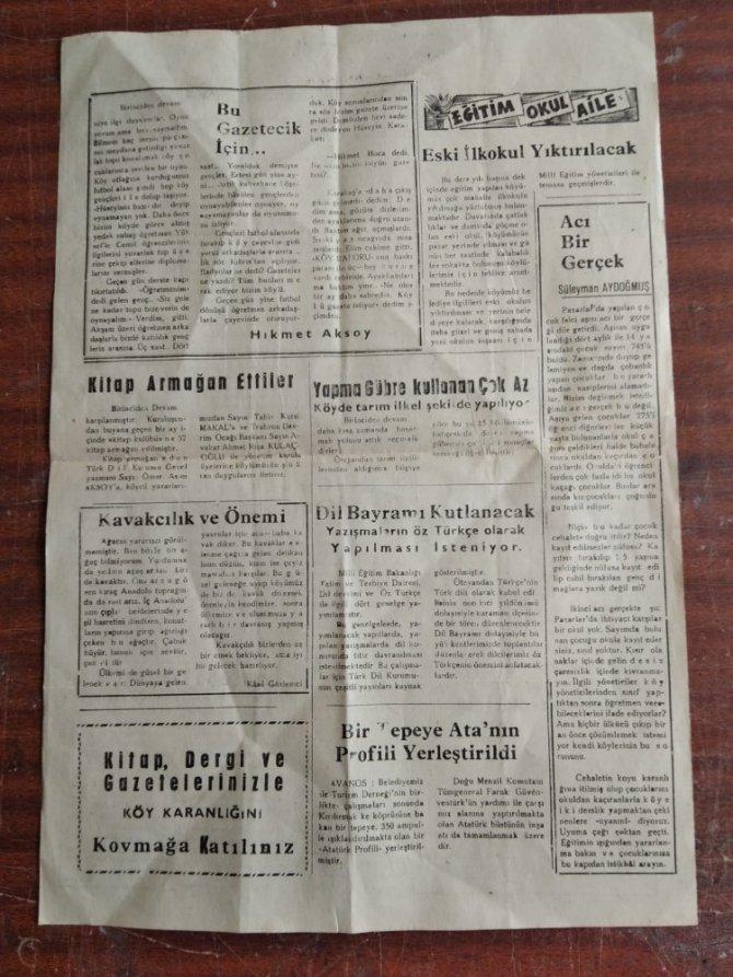 Türkiye'nin ikinci 'Köy gazetesi' müzeye verildi