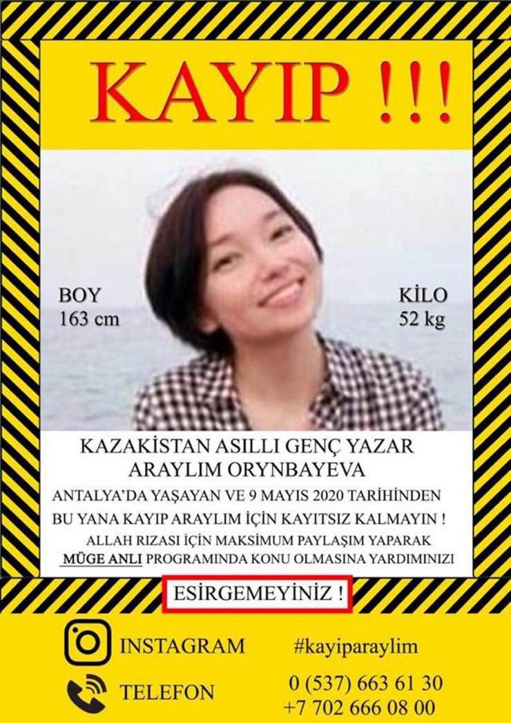 Kazak anne, 2,5 aydır kayıp kızını bulmak için televizyona çıkacak