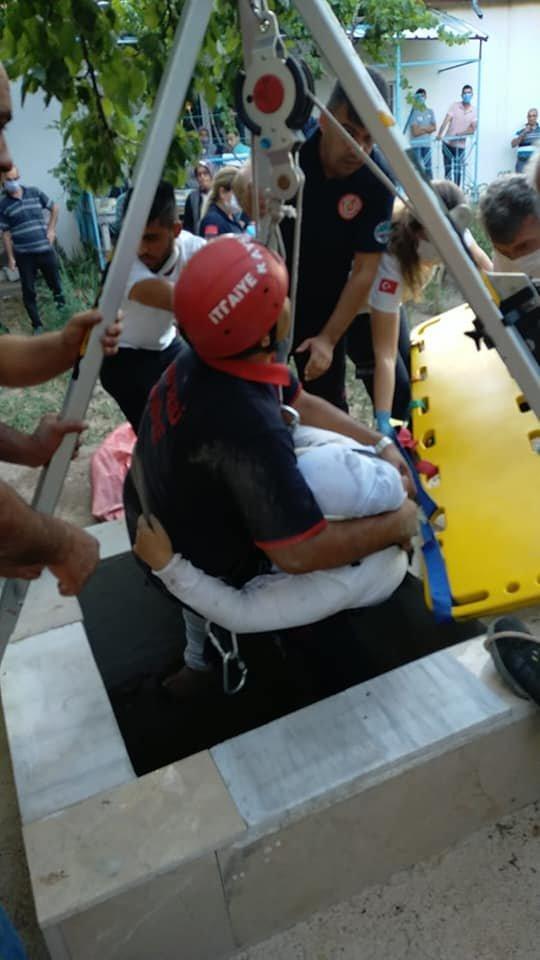 15 metrelik su kuyusuna düşen İrem, yaralandı