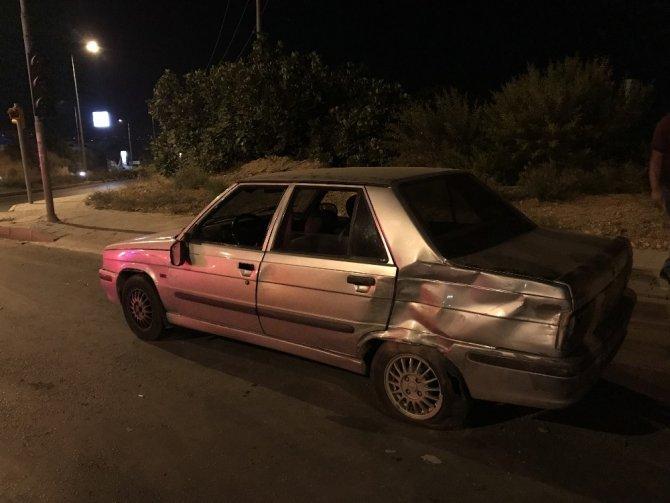 Babasının kiraladığı otomobili çaldı, polis otosuna çarpınca yakalandı