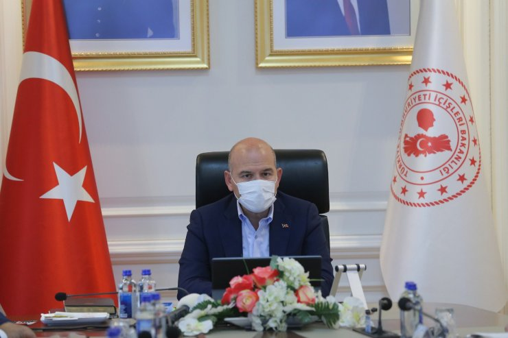 Bakan Soylu, 81 ile Valisi, Emniyet Müdürü ve Jandarma Komutanları ile görüştü