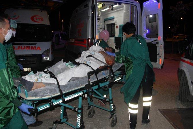 Konya'da boğazı kesilen kişi, kendi kullandığı aracıyla hastaneye gitti
