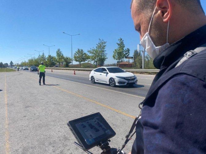 Bayram tatili dolayısıyla drone ile trafik denetimleri sürüyor