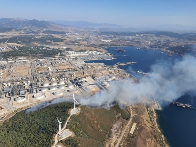 Star Rafineri içerisindeki yangın kontrol altına alındı