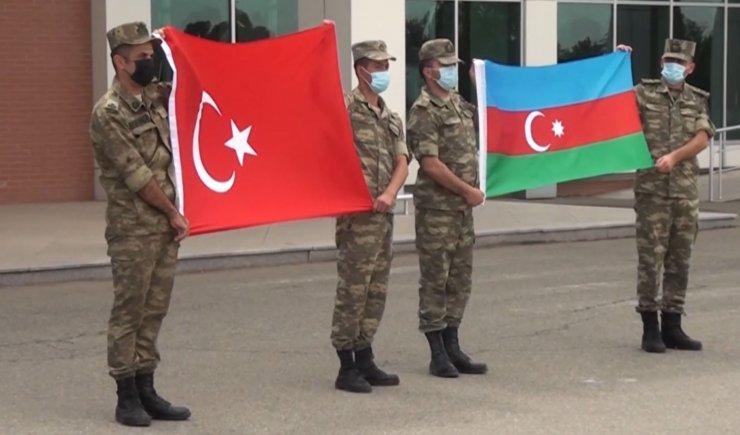 Türk Hava Kuvvetleri personeli tatbikat için Gence'de