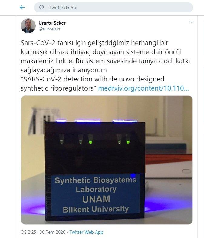 Bakan Varank: Kovid-19 tanısı için yeni sistem geliştirildi