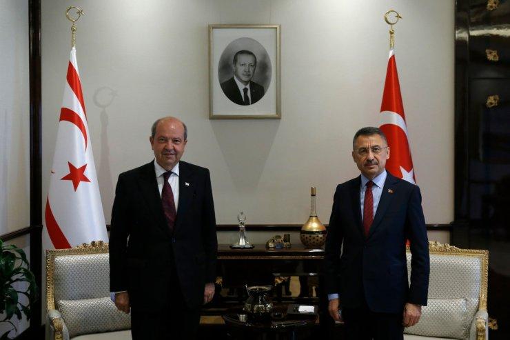 Cumhurbaşkanı Yardımcısı Oktay, KKTC Başbakanı ile görüştü