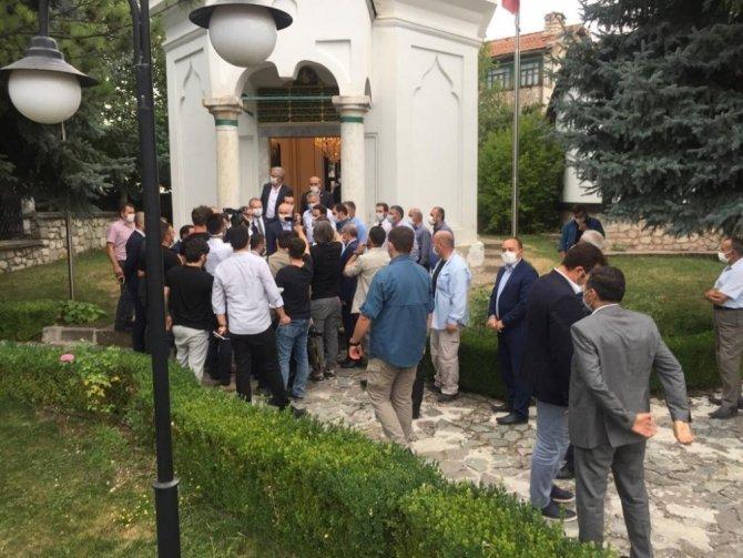 Ulaştırma ve Altyapı Bakanı Karaismailoğlu, Hayme Ana'nın türbesini ziyaret etti