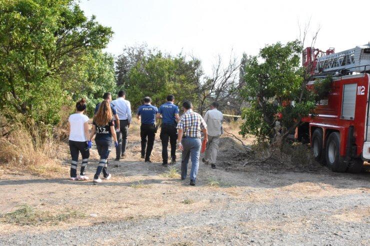 Makilik alanda çıkan yangında alevlerin ortasında kalan yaşlı adam öldü