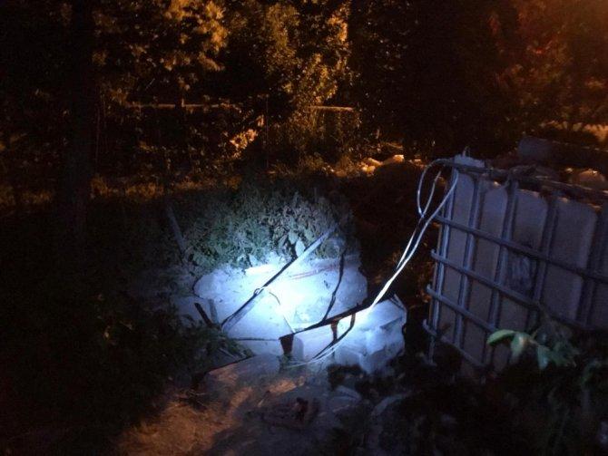 Evinin bahçesindeki su kuyusuna düşen şahıs ağır yaralandı