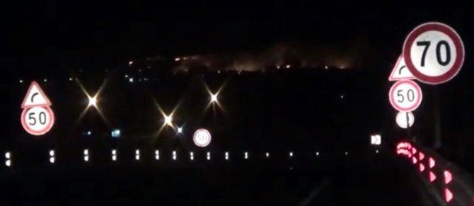 Yunanistan sınırında sıcak dakikalar, alevler Türkiye'den görülüyor