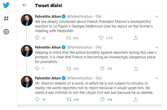 İletişim Başkanı Altun'dan 'Macron' açıklaması