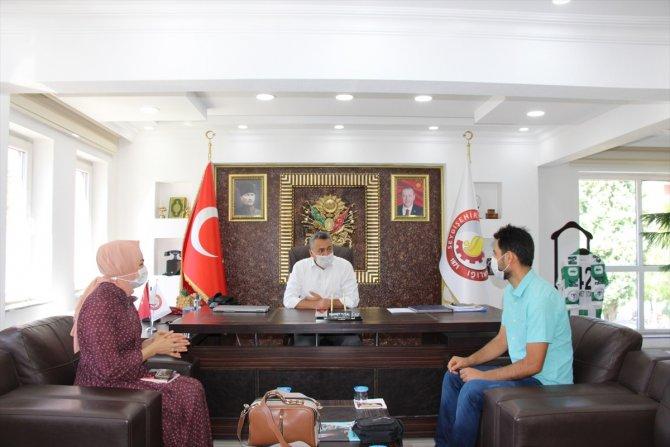 Yazar Dinç, Seydişehir Belediye Başkanı Mehmet Tutal'ı ziyaret etti