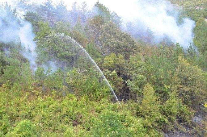 Orman yangınına müdahale ederken baygınlık geçirdi
