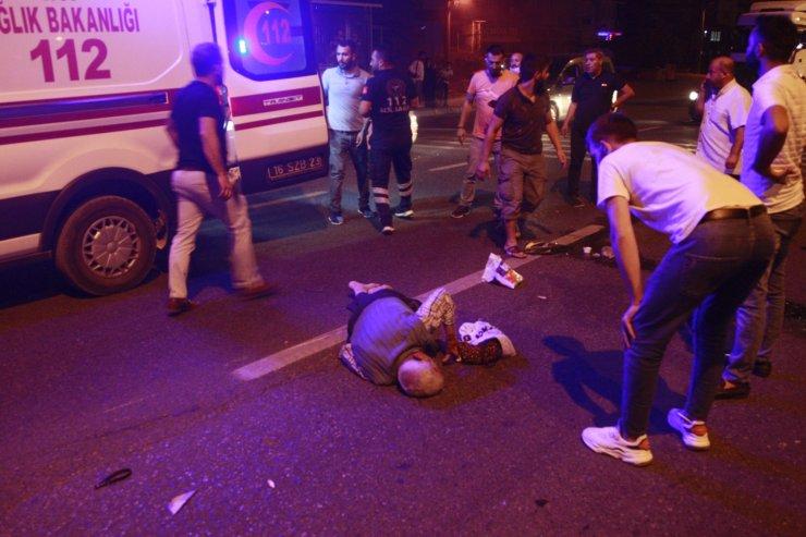 Otomobil ile çarpışan motosikletteki çifti ölüm ayırdı