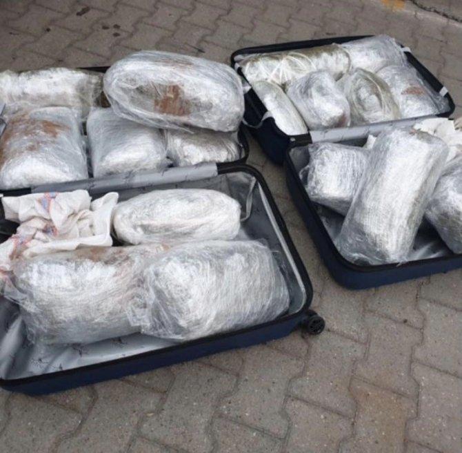 Sakarya'da 52 kilo 450 gram kubar esrar ele geçirildi