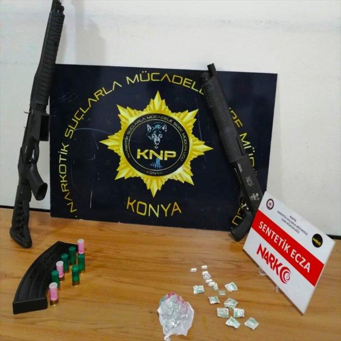 Konya'da uyuşturucu operasyonunda 18 zanlı yakalandı
