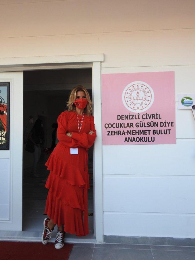 Gülben Ergen Denizli'de anaokulu açılışı yaptı