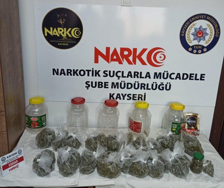 Kayseri'de uyuşturucu gözaltısı