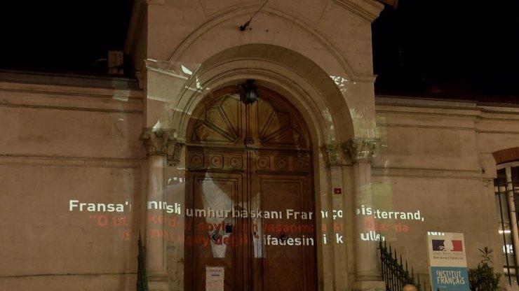 Fransa Başkonsolosluğu'nda ışıklı protesto