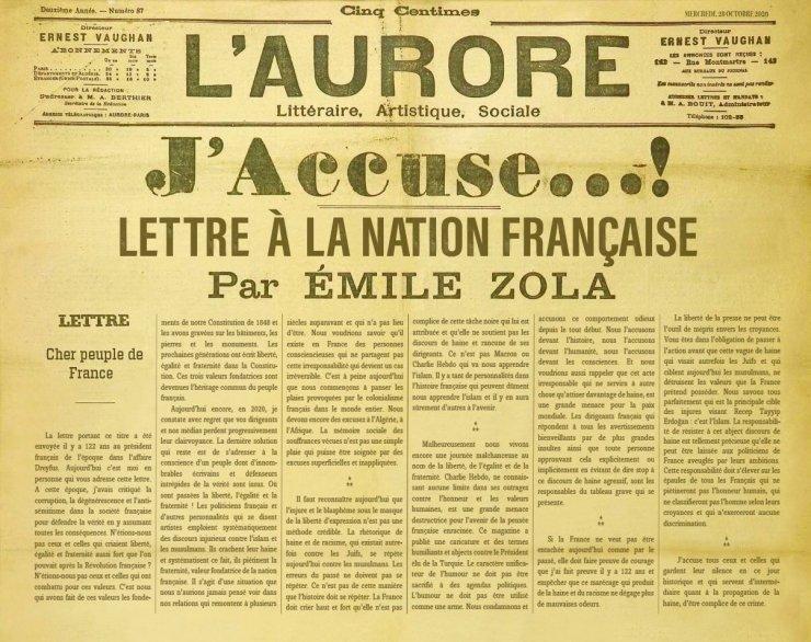 İletişim Başkanı Altun, Emile Zola'nın 122 yıllık mektubu ile seslendi