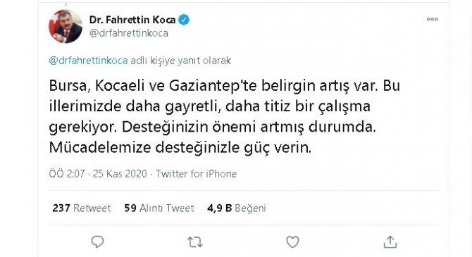 Bakan Koca'nın dikkat çektiği Gaziantep'te vatandaşlar sokaklarda