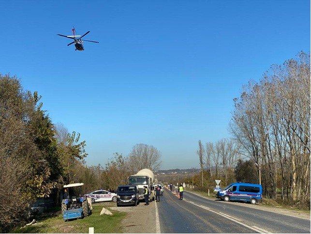 Zonguldak'ta ihlal yapan sürücüler jandarma helikopteriyle havadan böyle tespit edildi