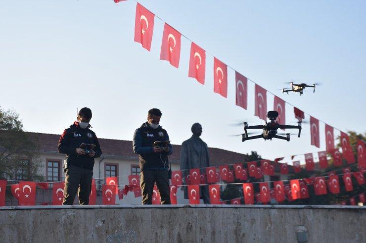 Malatya'da sokaklar dronla denetleniyor