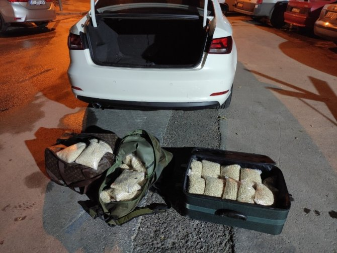 Otomobilin bagajından 393 bin adet uyuşturucu hap çıktı