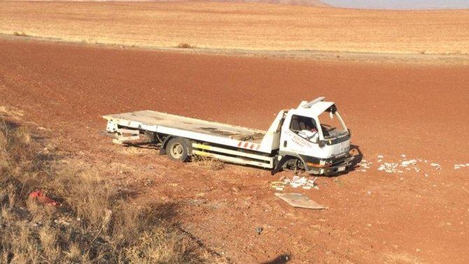 Oto kurtarıcı kaza yaptı: 1 yaralı