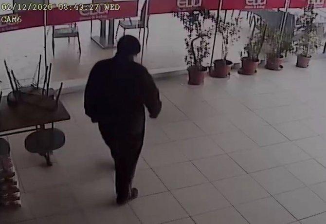 Maskeli hırsız bahşiş paralarını da çaldı