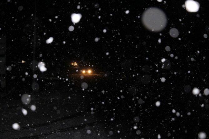 Kula yoğun kar yağışının etkisi altında
